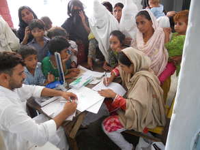 Reception Desk at the FMH Relief Camp