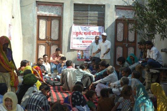 Gathering villagers to generate awareness