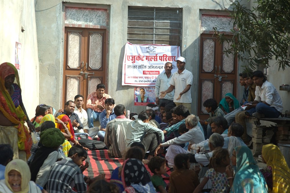 Gathering villagers to generate awareness