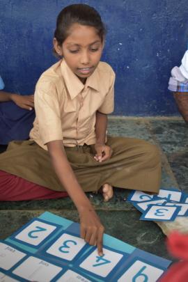 Children learning from our Gyan Ka Pitara-GKP kits