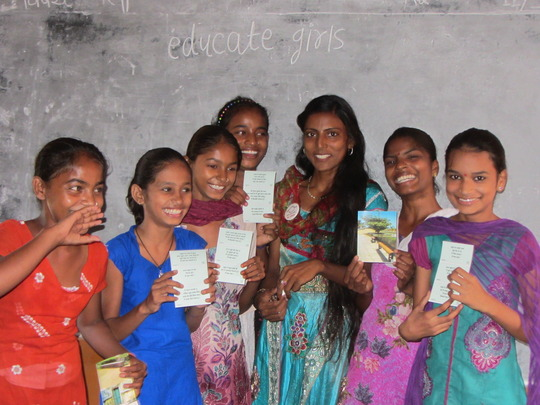 Padma with Students in Rajasthan
