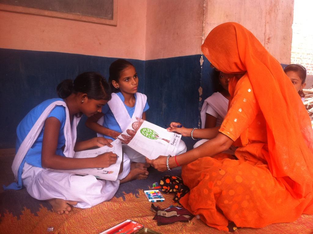 Teaching girls in Rajasthan