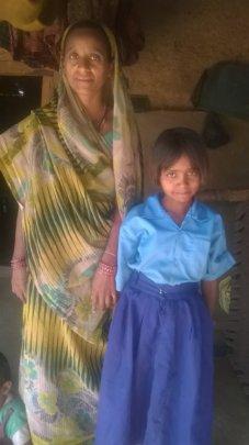 Kavya with her mother Geeta Devi