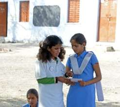 Team Balika, Deepa, ensures Kishbu enjoys school