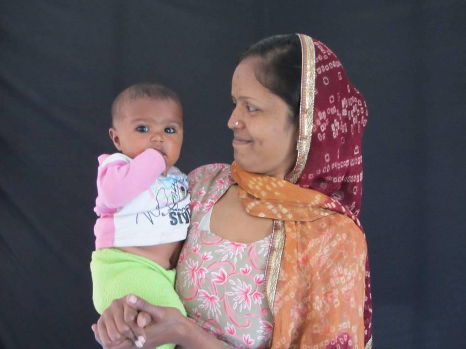 Nageena Banu with her child