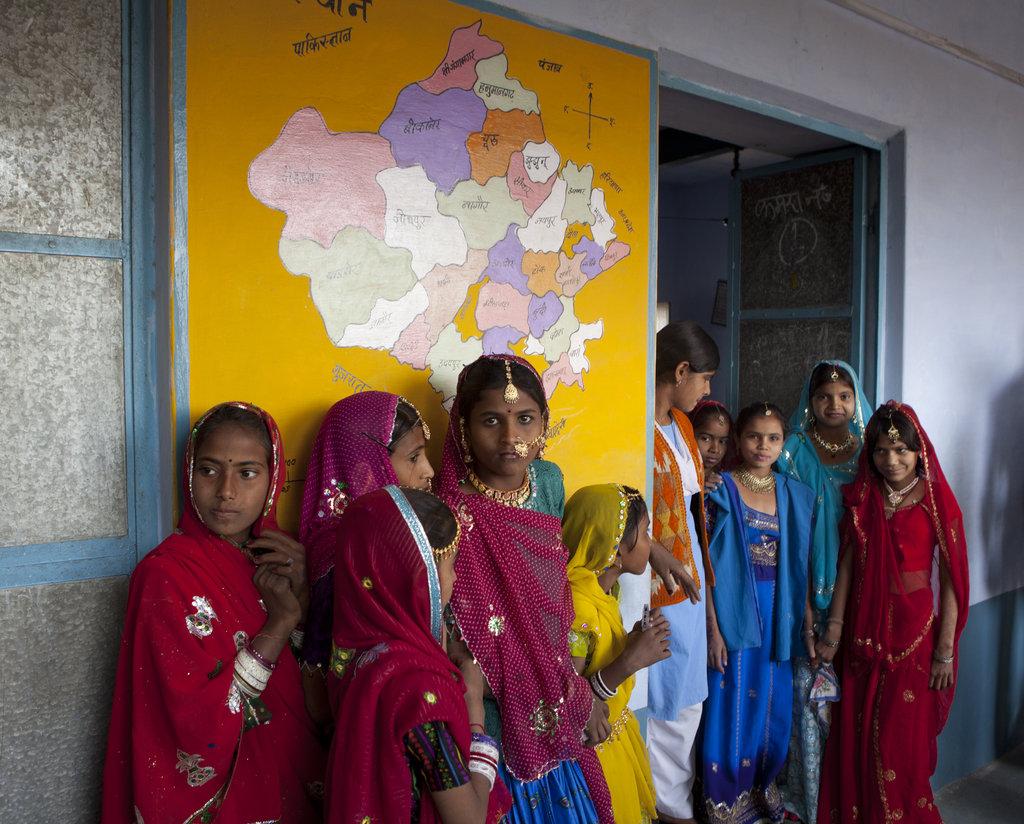 Young child bride Meena and her school mates