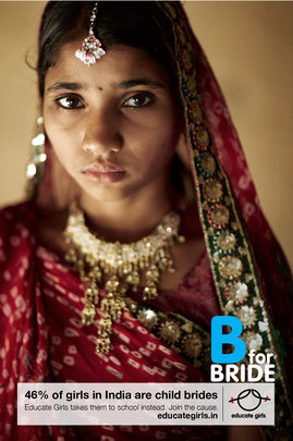 """Send Child Brides to School"" Campaign Poster No 1"