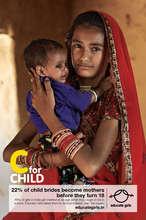 """Send Child Brides to School"" Campaign Poster No 2"
