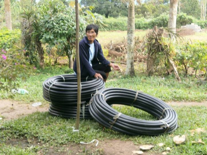 pipes for the distribution lines