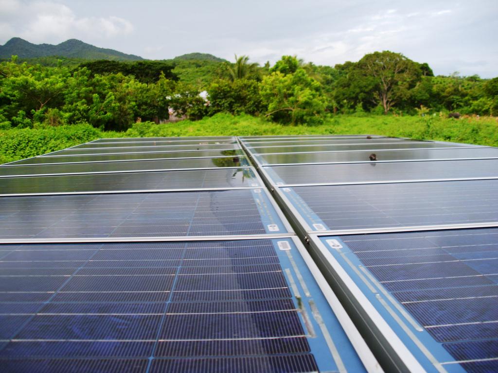 Repaired solar panels
