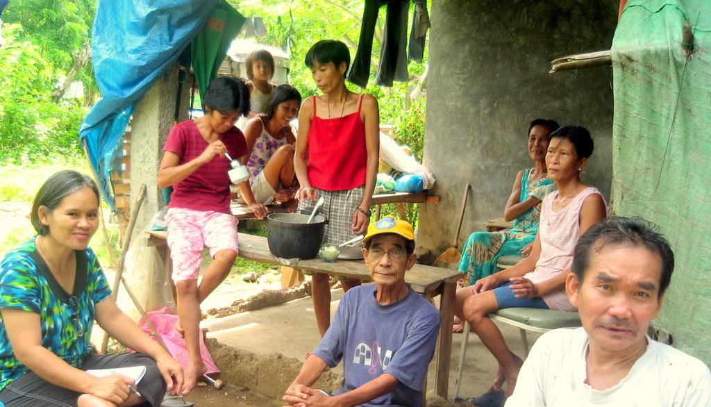 Discussing with Paang Bundok rural poor villagers