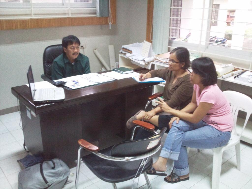 Consultation with Provincial Engr Reynaldo Libuit