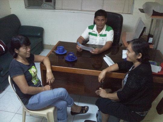 Consultation with Brgy, Captain Romel Malaluan