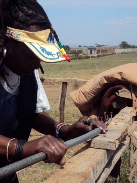 Fiona bending a rod