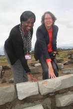 CIRCLE and WCC laying stone (with LBSI Founder)