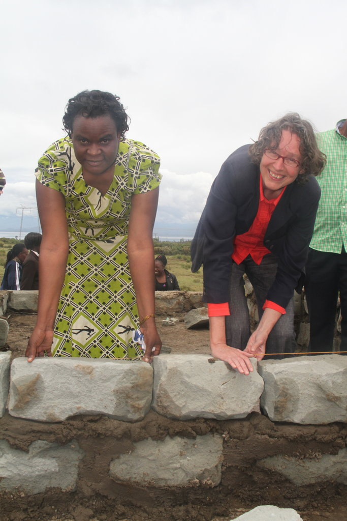 CIRCLE and WCC laying stone