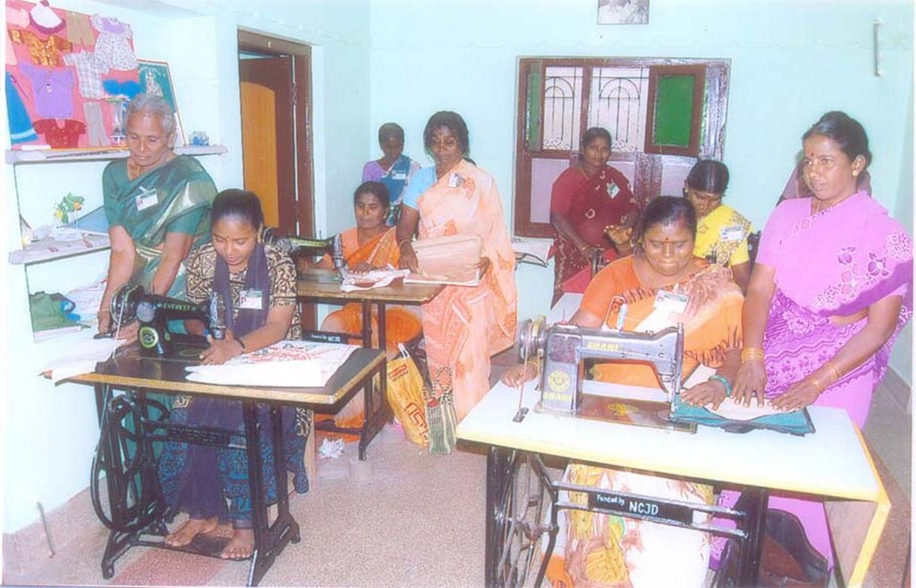 Modern dress making for 100 dalit female in India