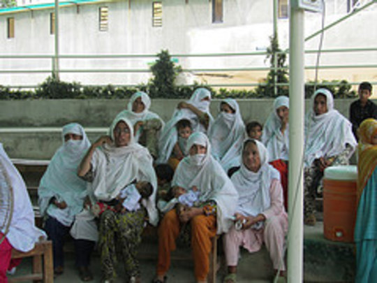 Female patients waiting for their medical checkup
