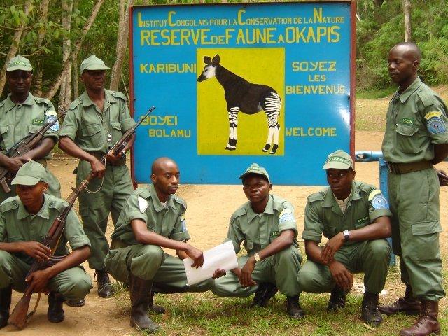 ICCN Guards that Patrol the Okapi Wildlife Reserve