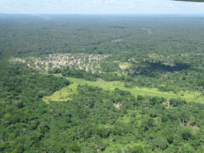 Epulu and airstrip from plane
