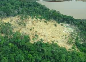 Evacuated Mining Camp in Okapi Faunal Reserve