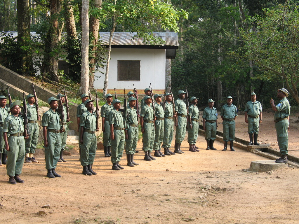 ICCN Rangers Training at Epulu, DR Congo