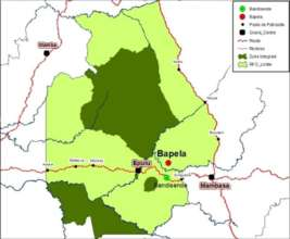 Location of the Bapela Mine