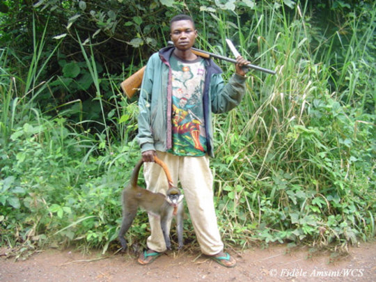 poacher in Eastern DR Congo