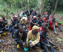 Mining Camp Evacuees