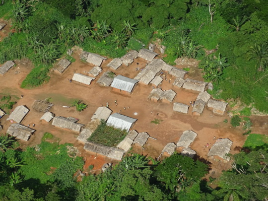 Mining camp documented during May aerial survey