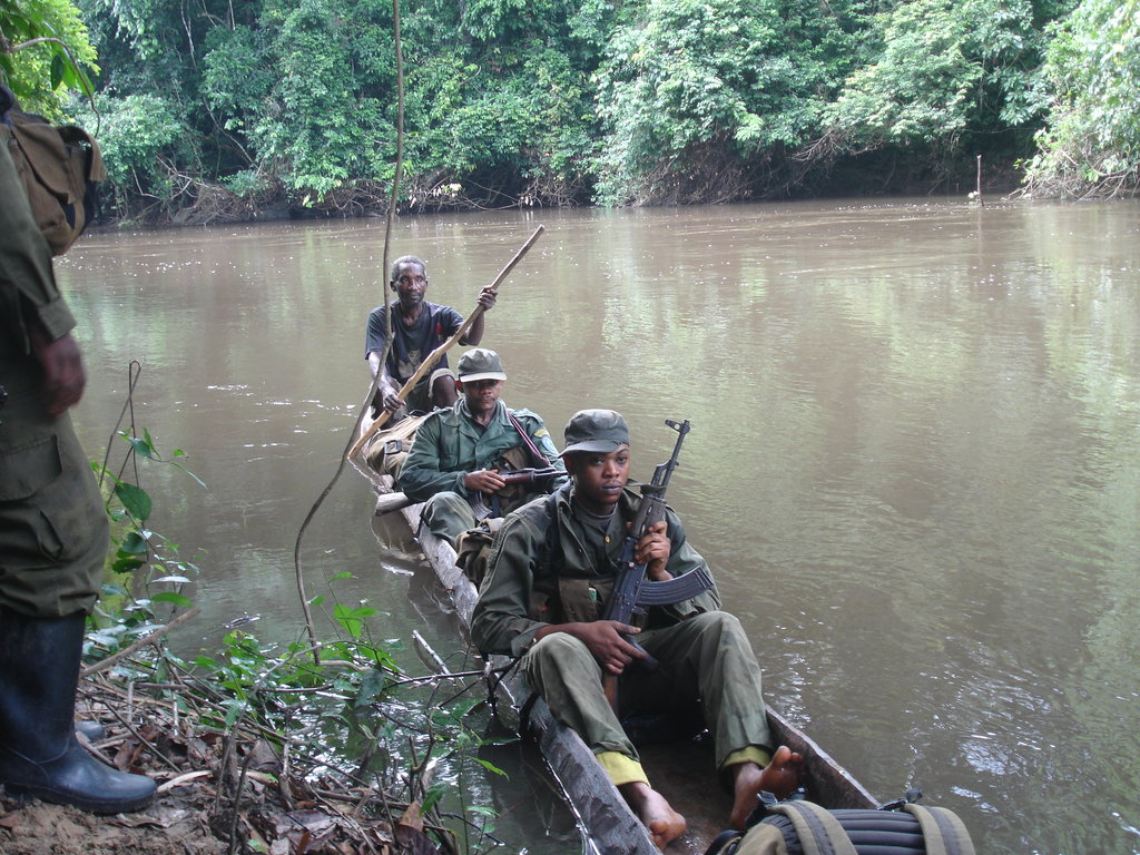 ICCN Rangers Patrolling in the Reserve
