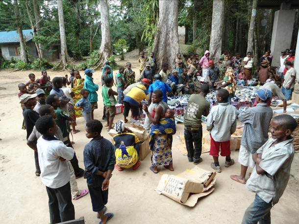 Supplies Handed Out to Pygmies in Epulu