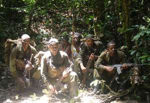 ICCN Guards in the Okapi Wildlife Reserve Forest