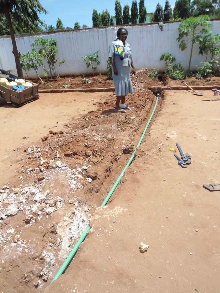Water pipes being laid at Precious Vision