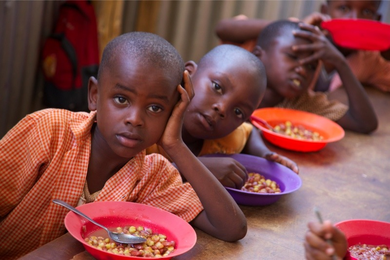 Feeding program in Kenya