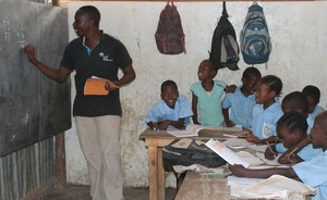 The students are eager to learn at Nyota