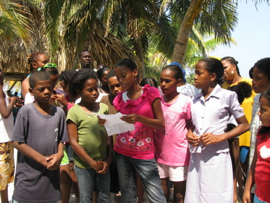 scholarship recipient engaging with other students