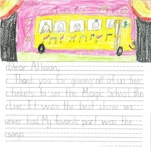 Letter from student who attended an OCT field trip