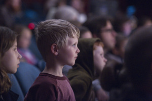 Students enthralled by live theater