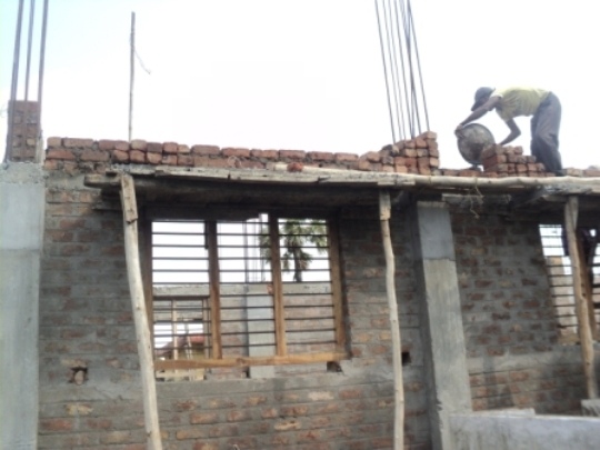 House construction is being done