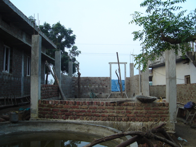 House construction upto Basement level