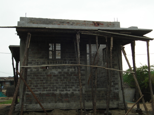 House completed until Roof level