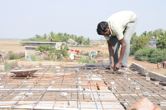 Steel is being set for laying Slab