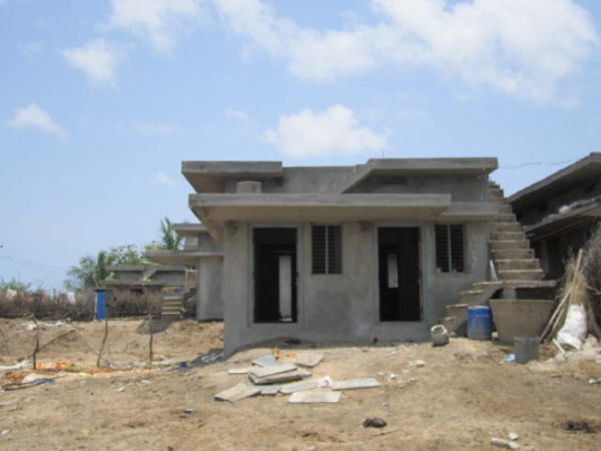 Partially completed house
