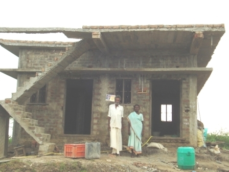 Beneficiaries in uncompleted house