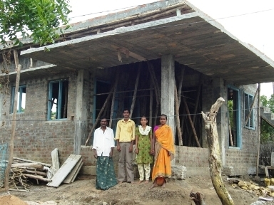 Beneficiaries in a partly completed house
