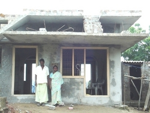Beneficiaries in a completed house