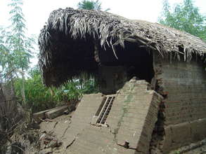 Destroyed home from floods in A.P.