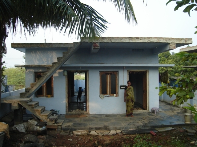 House completed upto slab level