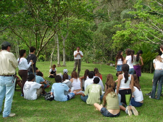 Lecture on the grass